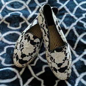 Cole Haan Floral Lace Slip On Espadrilles Size 8